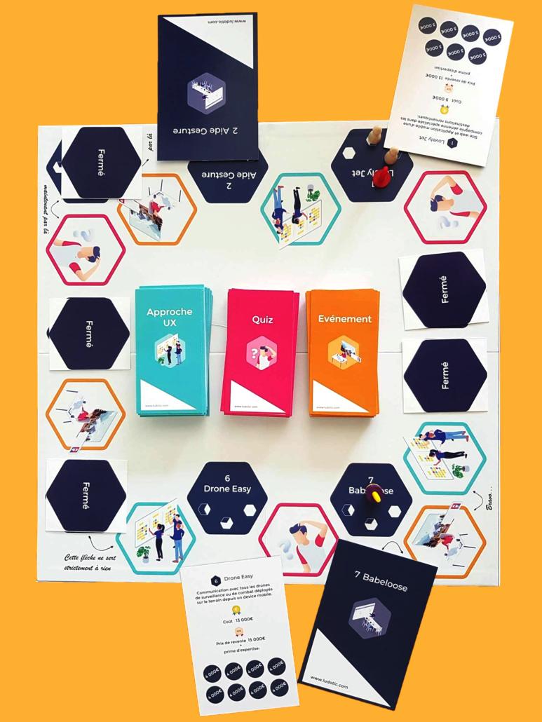 plateau et cartes UX Game™