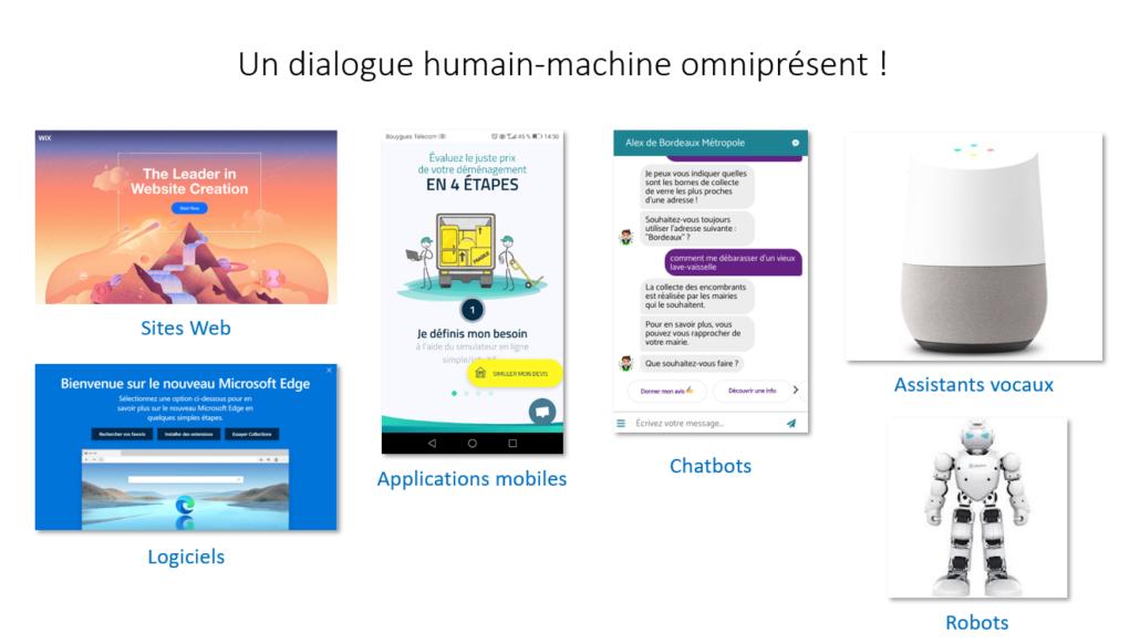 Que ce soit un site, un logiciel, une application mobile, un chatbot, ou encore un assistant vocal, le dialogue humain-machine est omniprésent.